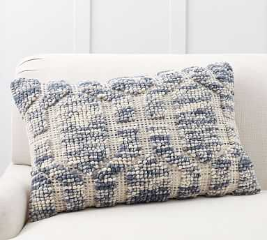 """Atlee Tufted Pillow Cover, 20 x 30"""", Blue Multi - Pottery Barn"""