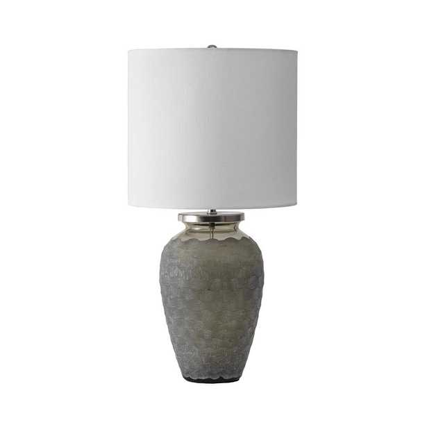 nuLOOM 15 in. Gray Napa Glass Indoor Table Lamp - Home Depot