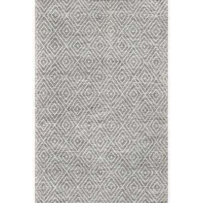 Massenburg Geometric Hand Hooked Wool/Cotton Gray Area Rug - Wayfair