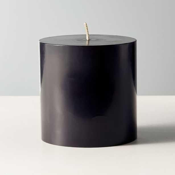 "Black Pillar Candle 3""x3"" - CB2"