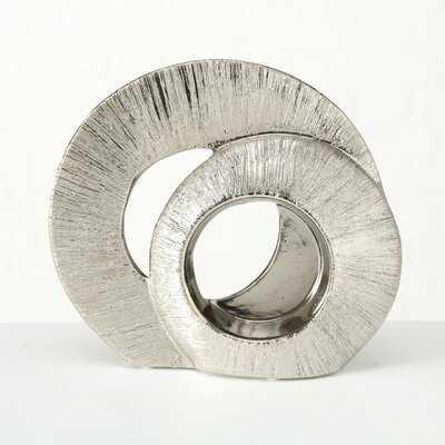 2 Pieces Zauber Incised Double Infinity Ring Sculpture Set - Wayfair