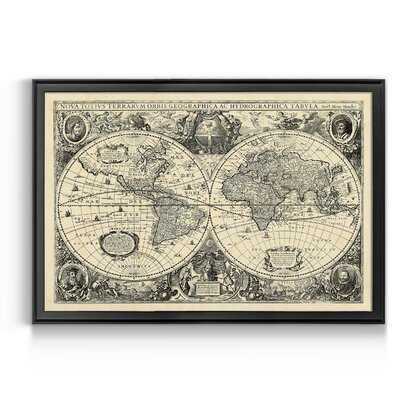 Vintage World Map - Picture Frame Print - Wayfair