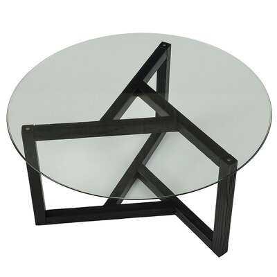 Round Glass Coffee Table With Cross Legs - Wayfair