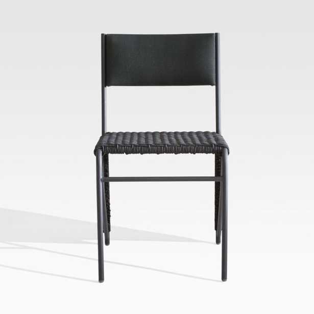 Dorado Black Small Space Outdoor Dining Chair - Crate and Barrel