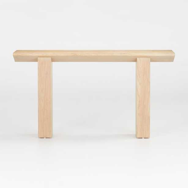 Van Natural Wood Console Table - Crate and Barrel