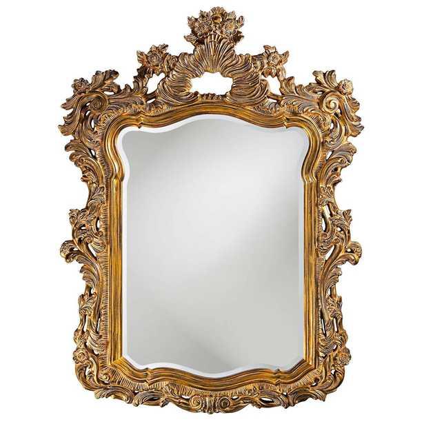 Howard Elliott Turner Antique Gold Mirror Wall Decal - Home Depot