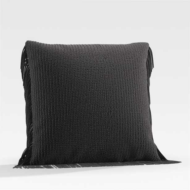 """Bergess 20"""" Black Outdoor Pillow - Crate and Barrel"""