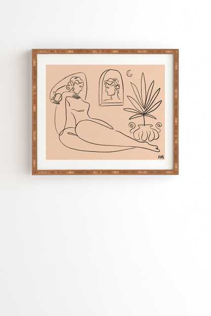 """I See You 1 by Maggie Stephenson - Framed Wall Art Bamboo 14"""" x 16.5"""" - Wander Print Co."""