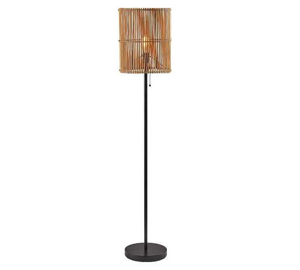 Elsbeth Metal Floor Lamp, Dark Bronze - Pottery Barn