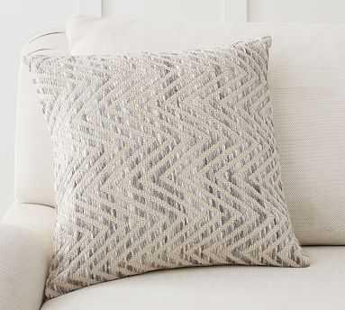 "Ayden Textured Pillow Cover, 18 x 18"", Gray - Pottery Barn"