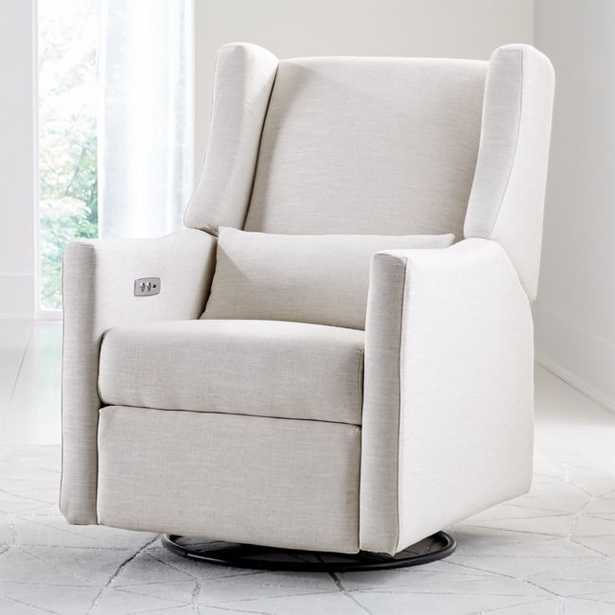 Babyletto Kiwi Ivory Power Recliner Glider - Crate and Barrel