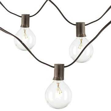 Edison Brown String Lights, Set of 2, Sphere Bulb - West Elm