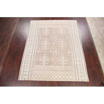 Geometric Moroccan Oriental Area Rug Hand-Knotted 8X10 - Wayfair