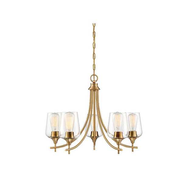 Filament Design 5-Light Warm Brass Chandelier - Home Depot