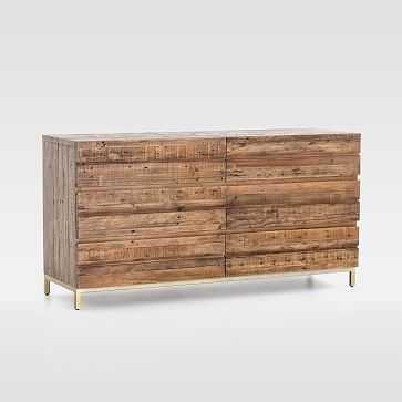 Reclaimed Wood + Iron Base 6-Drawer Dresser - West Elm