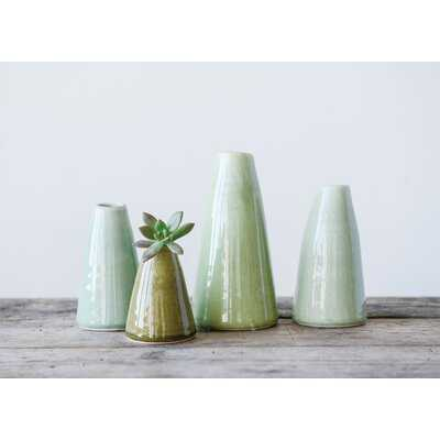 "4 Piece 8"" Terracotta Table Vase Set - Wayfair"
