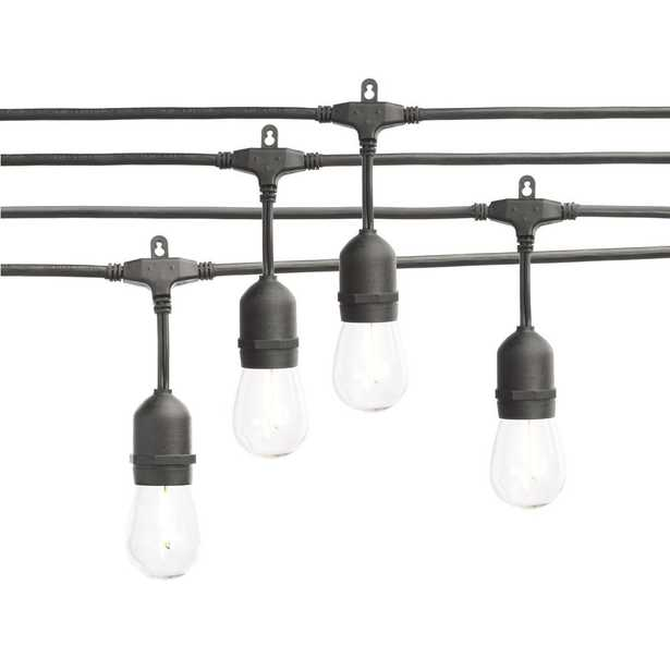 Hampton Bay 24-Light Indoor/Outdoor 48 ft. String Light with S14 Single Filament LED Bulbs - Home Depot