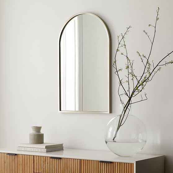 New Shape Metal Arch Mirrors Brushed Nickel - West Elm