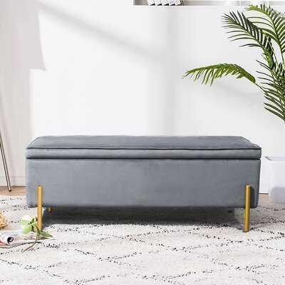 Middlewich Upholstered Flip Top Storage Bench - Wayfair
