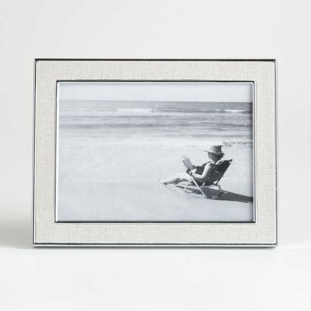 Tava 5x7 Linen Picture Frame - Crate and Barrel