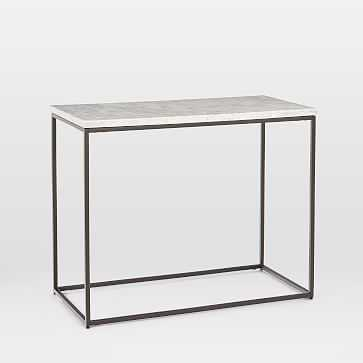 Streamline Side Table, Marble, Antique Bronze - West Elm