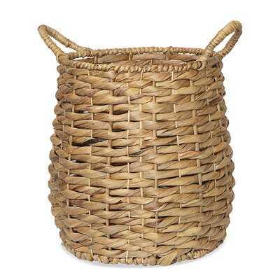 Del Mar Braided Hyacinth Wicker/Rattan Basket - Wayfair