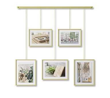 Hanging Brass Gallery Frames, Set of 5 - Pottery Barn