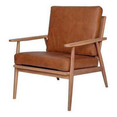 """Arvon 26"""" W Top Grain Leather Armchair - AllModern"""