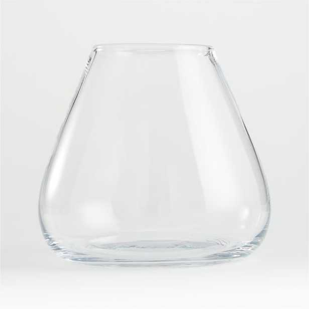 """Laurel Clear Round Glass Vase 8"""" - Crate and Barrel"""