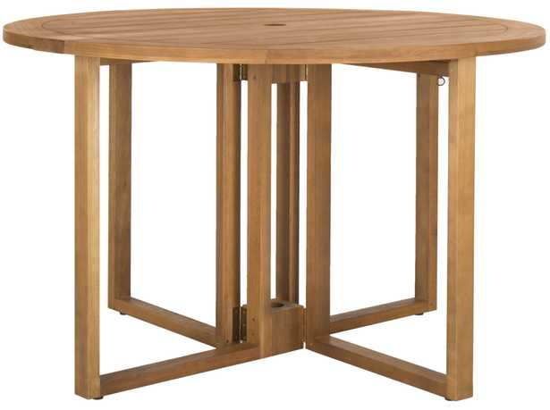 Wales Round 47.24-Inch Dia Dining Table - Natural - Arlo Home - Arlo Home