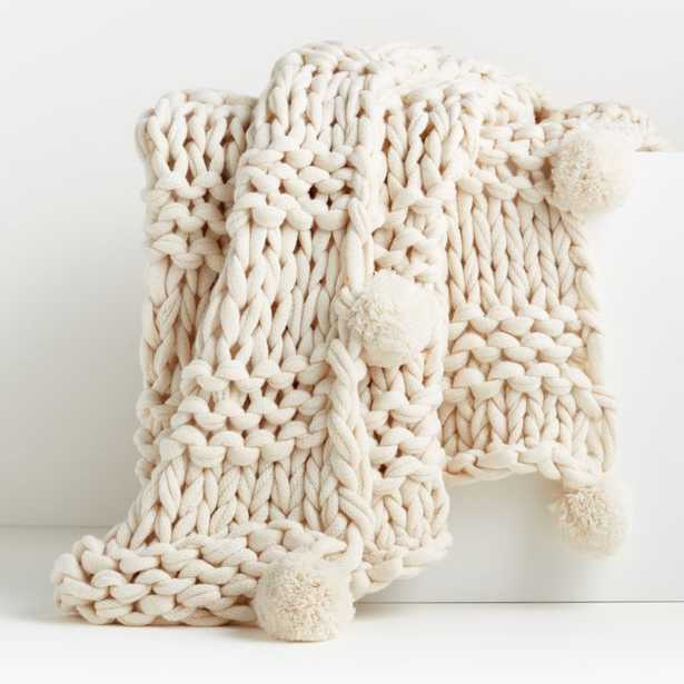 Virka Ivory Throw - Crate and Barrel