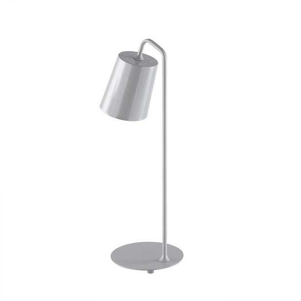 Southern Enterprises Molia 22.5 in Gray Desk Lamp - Home Depot
