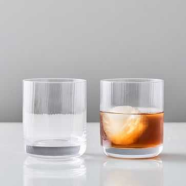 Esme Fluted Glassware, Double Old Fashioned, Set of 2 - West Elm