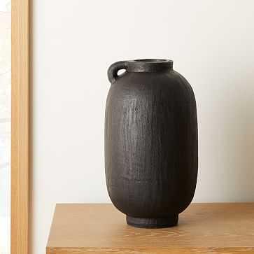 Deco Terracotta Vase, Black, Medium - West Elm