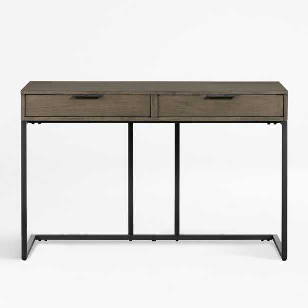 Oxford Shale Small Storage Desk - Crate and Barrel