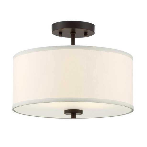 Filament Design 2-Light Oil Rubbed Bronze Semi-Flushmount - Home Depot