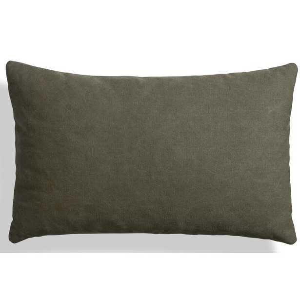 "Blu Dot Signal Canvas 20"" X 13"" Lumbar Pillow Color: Barto Olive - Perigold"