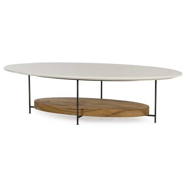 Sonder Living Thomas Bina Coffee Table Table Top Color: White Lacquer - Perigold