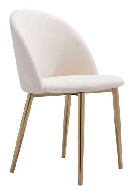 Cozy Dining Chair (Set of 2) Cream - Zuri Studios