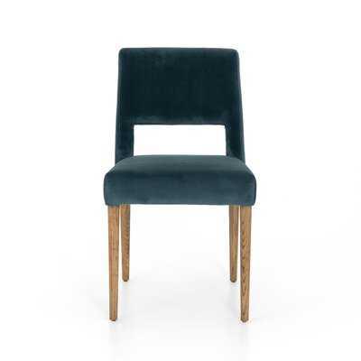 Hoosier Upholstered Side Chair in Teal Blue - Wayfair