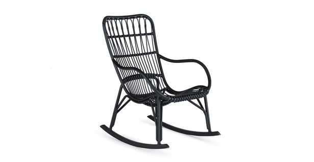 Medan Graphite Rocking Chair - Article