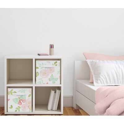 Butterfly Floral Fabric Storage Cube or Bin - Wayfair