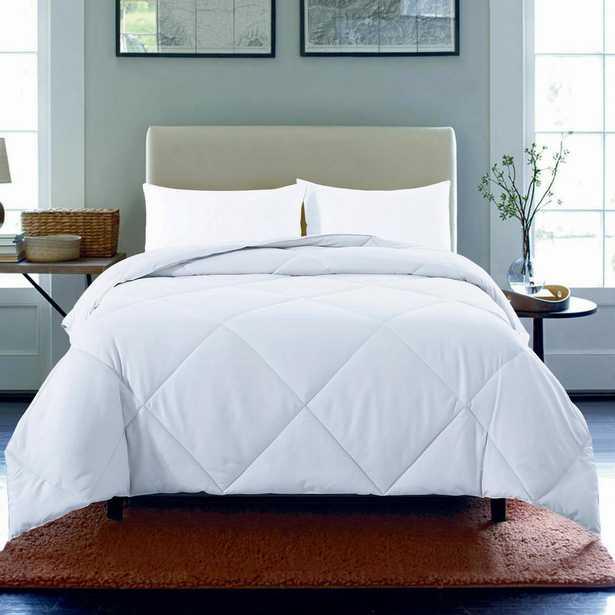 Microfiber Nano Full/Queen White Comforter - Home Depot