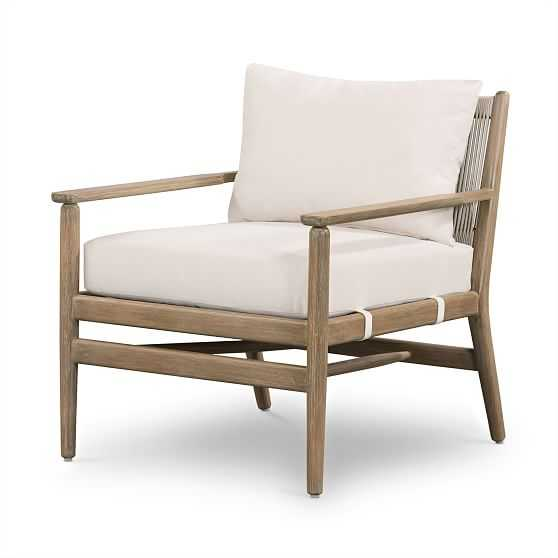 Rope Back Outdoor Chair - West Elm