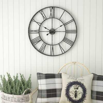 Oversized Eisenhauer Wall Clock - Wayfair