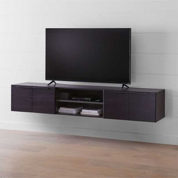 """Rigby 80.5"""" Large Floating Wenge Media Console - Crate and Barrel"""