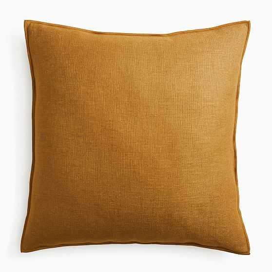 """Classic Linen Pillow Cover, 24""""x24"""", Golden Oak - West Elm"""