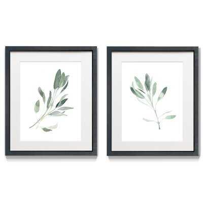 Simple Sage II - 2 Piece Picture Frame Print Set - Wayfair