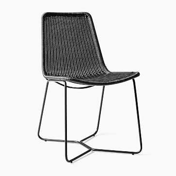 Outdoor Slope Collection Charcoal Dining Chair-Individual - West Elm
