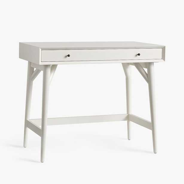 west elm x pbt Mid-Century Small-Space Mini Desk, White, In-Home - Pottery Barn Teen